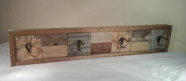 handmade wooden pallet coat rack