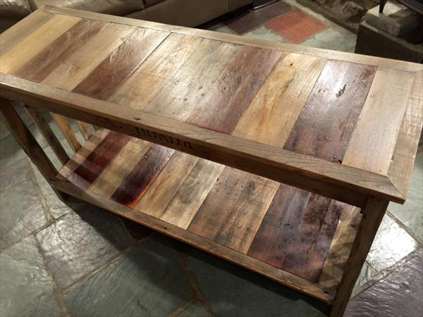 long living pallet console table