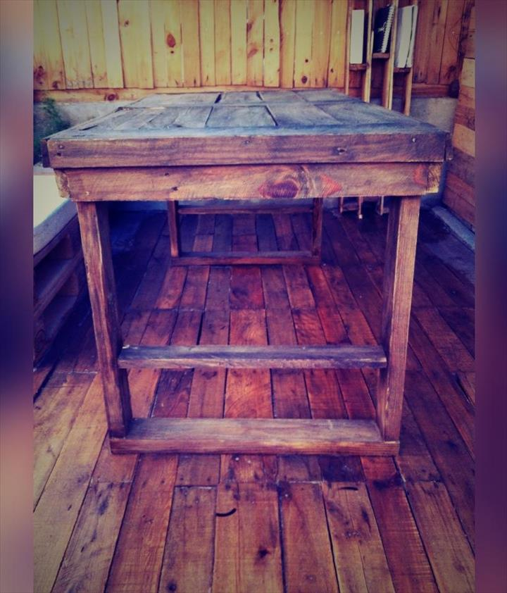 rustic pallet wood dining table
