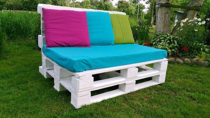 pallet two seater sofa