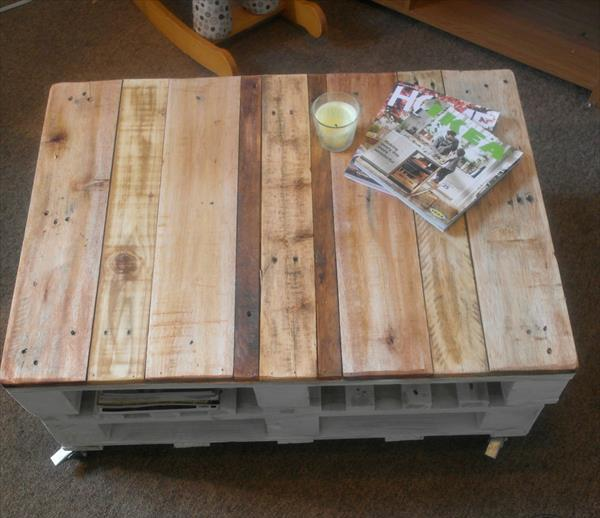 shabby chic 2 pallet coffee table