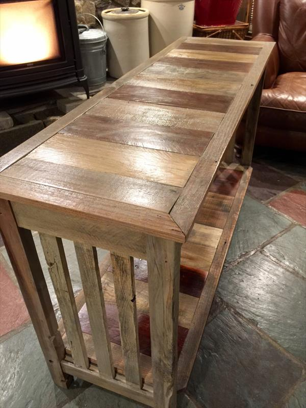no-cost but super functional pallet console