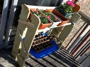 Pallet Planter Stand / Organizer
