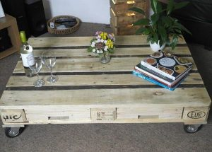 DIY One Pallet Coffee Table