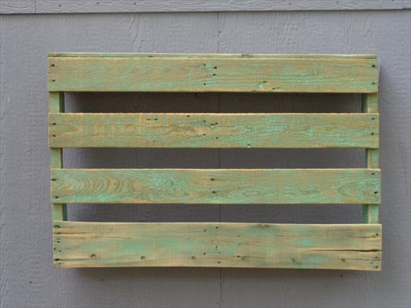 handcrafted wooden pallet wall shoes rack