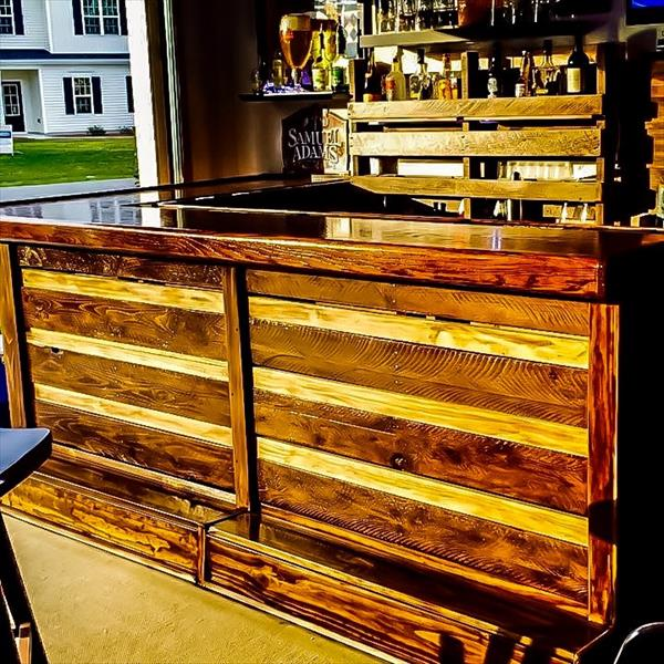 DIY Pallet Full Size Bar Furniture Plans