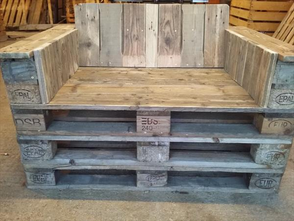 recycled pallet 2 seater