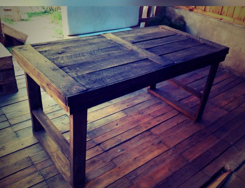 recycled pallet rustic dining table