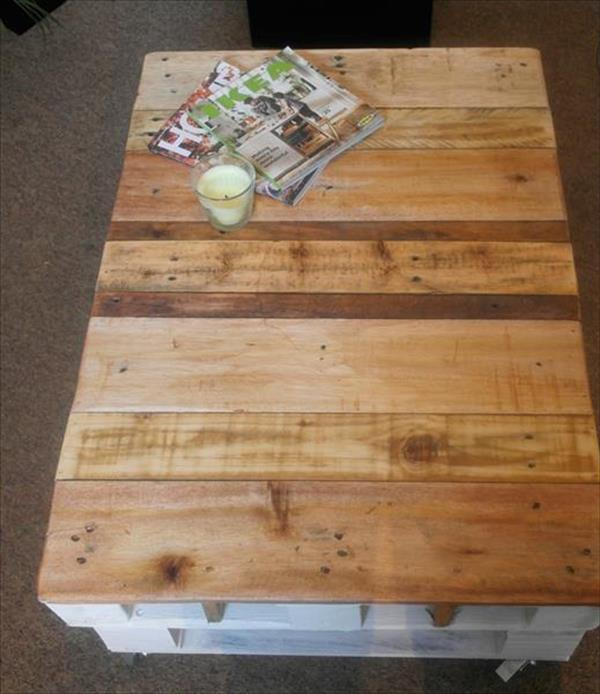 diy 2 pallet shabby chic coffee table