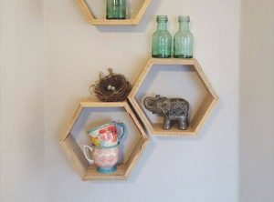Creative Hexagon Pallet Shelves