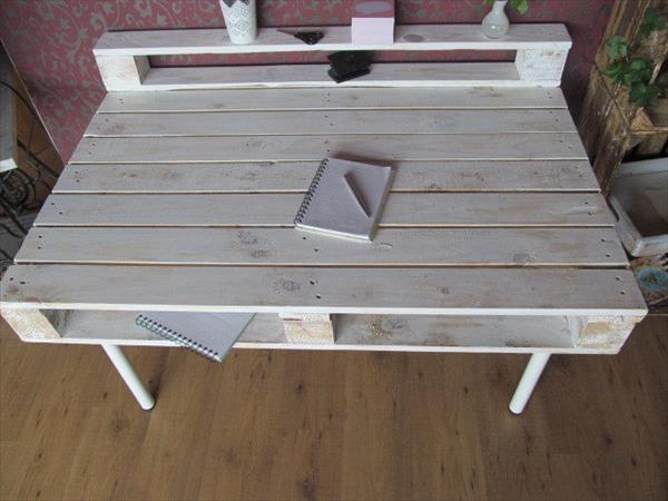 handmade wooden pallet desk