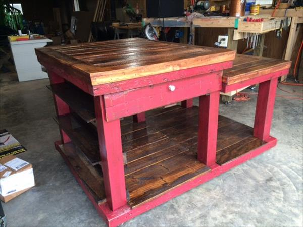 recycled pallet center island