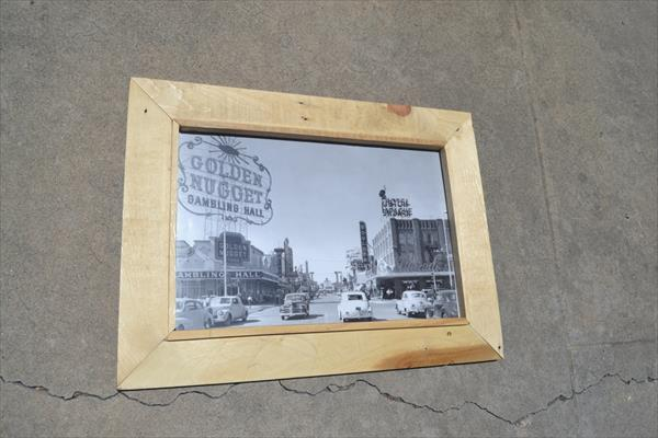 recycled pallet photo frame