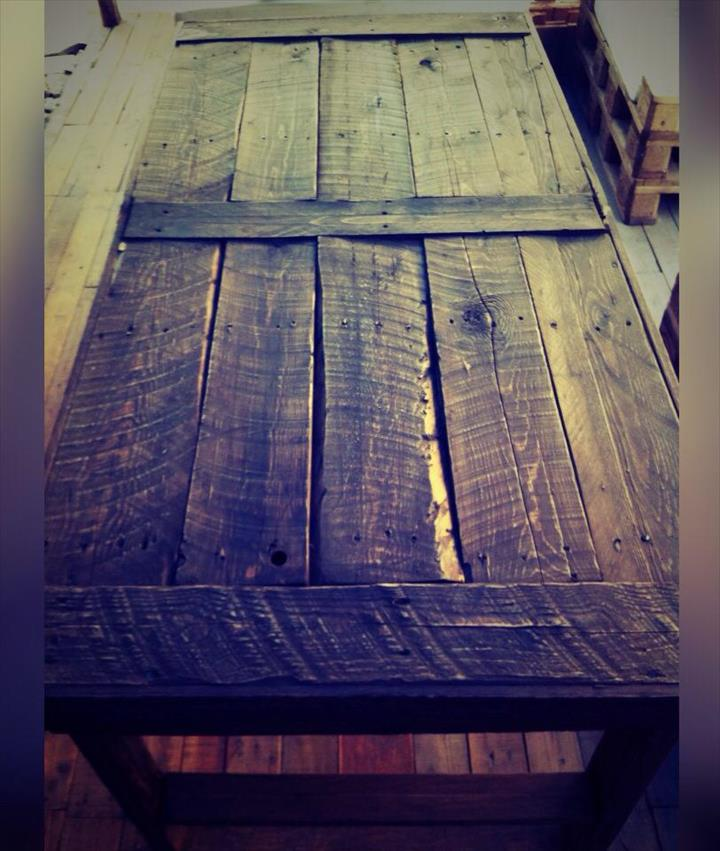 rustic dining table made of pallets