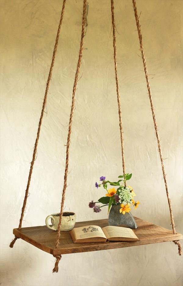 custom pallet hanging hammock table