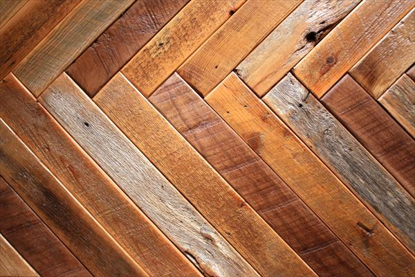 upcycled wooden pallet herringbone style coffee table