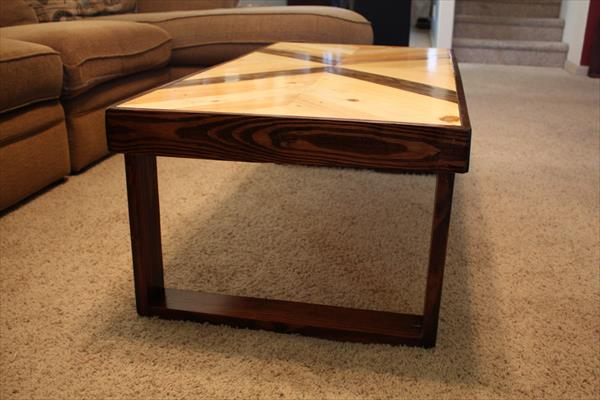 modern pallet multichevron pallet coffee table with flat box like legs
