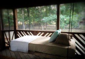 custom pallet indoor bed swing