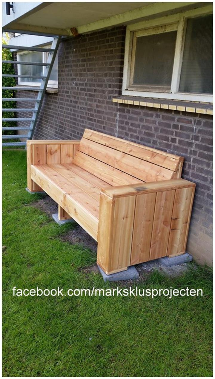 Diy Pallet Garden Bench Pallet Furniture Plans