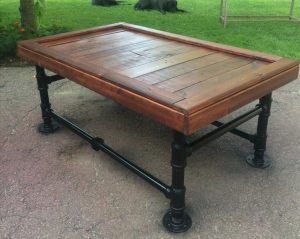 Iron and Pallet Coffee Table