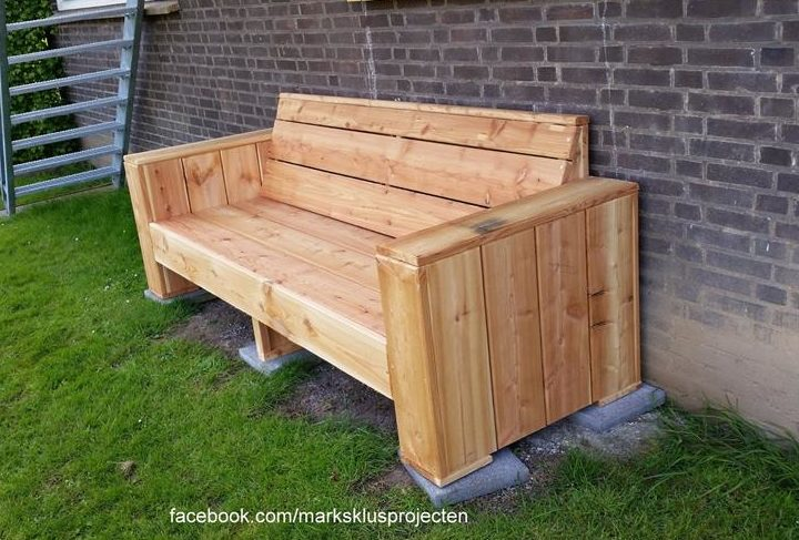 Pallet Bench Pallet Furniture Plans : pallet garden bench e1468181262949 from palletfurnitureplans.com size 720 x 487 jpeg 85kB