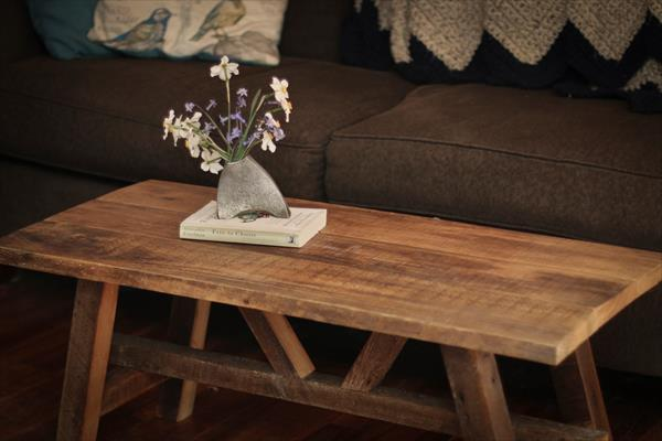 Scandinavian style pallet coffee table