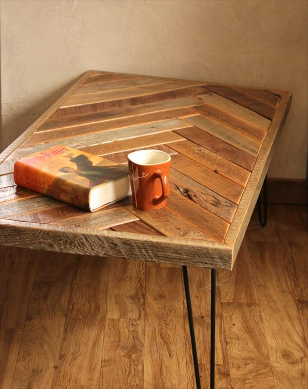 Pallet Herringbone Style Coffee Table Pallet Furniture Plans