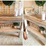 Rustic Pallet Entryway Table