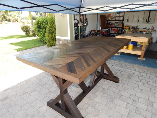 upcycled wooden pallet sturdy chevron dining table