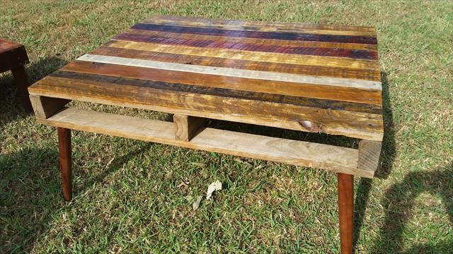 pallet rustic coffee table