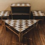 DIY Pallet Geometric Shape Living Furniture Set