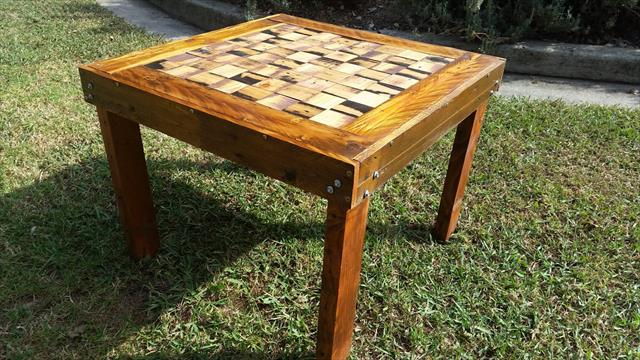 diy pallet chess dining table