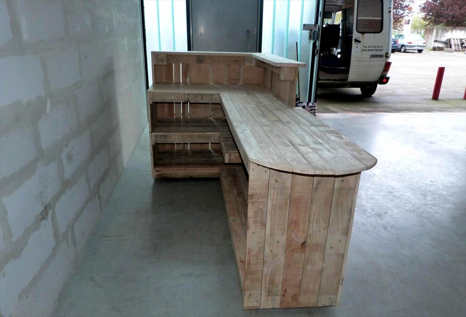 handmade wooden pallet stylish wooden bar
