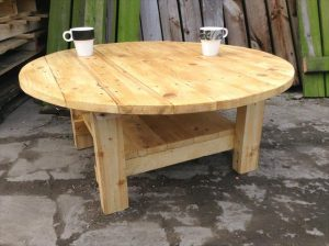 Pallet Round Top Coffee Table