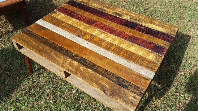 Wooden pallet rustic coffee table