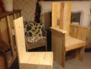 robust wooden pallet kitchen chair