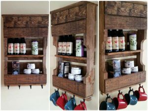 Pallet Kitchen Organizer