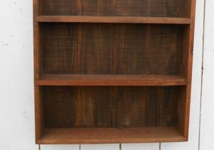 DIY Pallet Wall Cabinet Shelf Unit