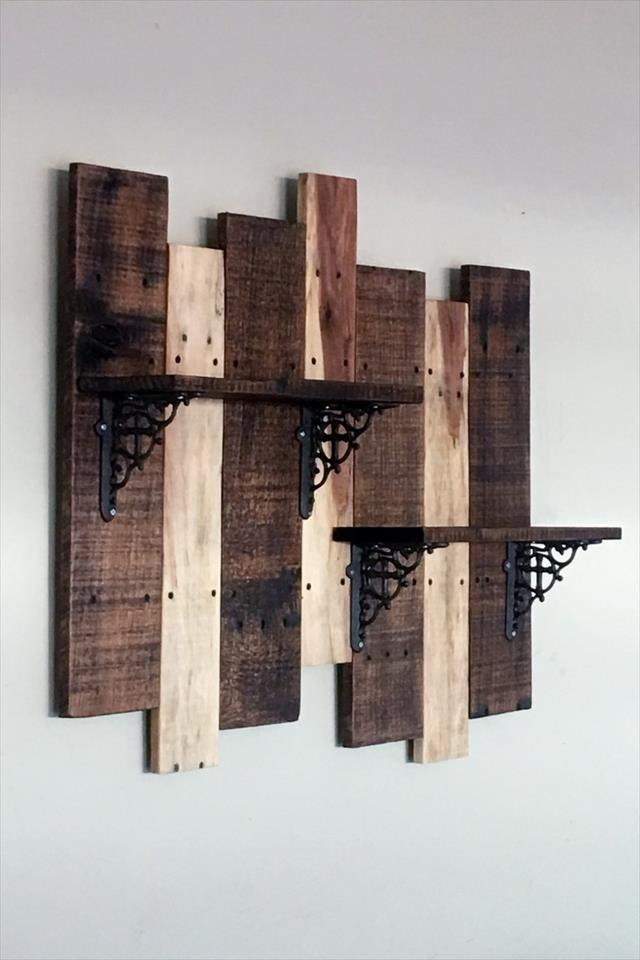 diy pallet display shelf for walls