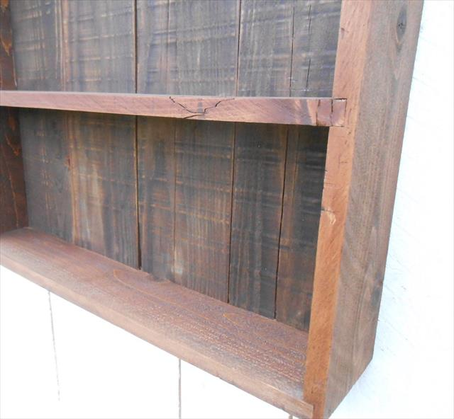 Recycled pallet wall cabinet