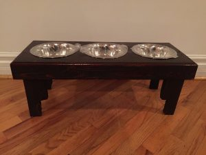 Wooden Pallet Dog Bowl Stand