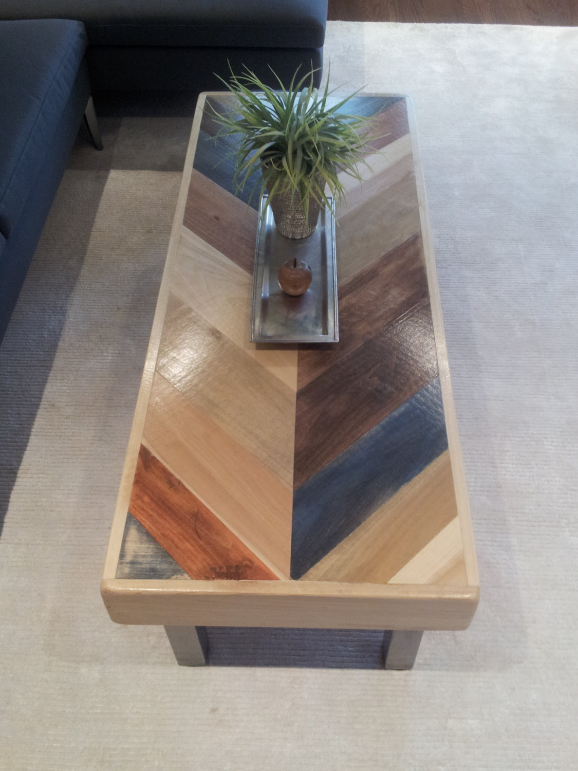 Herringbone Pattern Pallet Coffee Table Pallet Furniture