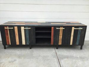 Extra Large Pallet Media Console Table / Stand
