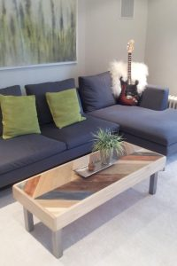 Herringbone Pattern Pallet Coffee Table
