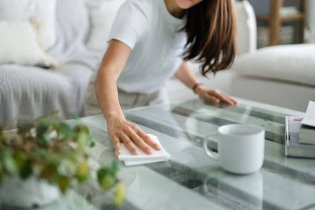 Glass tabletops require less-maintenance